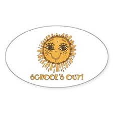 School's Out Sunshine! Oval Decal