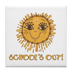 School's Out Sunshine! Tile Coaster