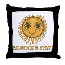 School's Out Sunshine! Throw Pillow
