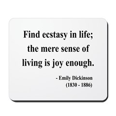 Emily Dickinson 20 Mousepad