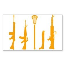 Lacrosse Weapons Rectangle Decal