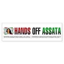 Hands Off Assata Bumper Bumper Sticker