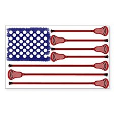 Lacrosse AmericasGame Rectangle Decal