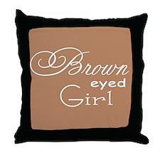 Brown Eyed Girl Throw Pillow
