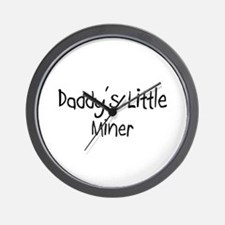 Daddy's Little Miner Wall Clock