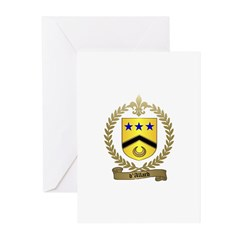 d'ALLARD Family Crest Greeting Cards (Pk of 10