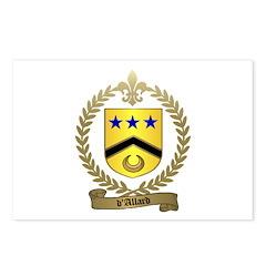d'ALLARD Family Crest Postcards (Package of 8)