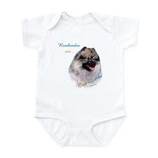 Keeshond Best Friend 1 Infant Bodysuit