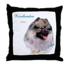 Keeshond Best Friend 1 Throw Pillow
