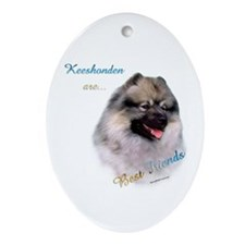 Keeshond Best Friend 1 Oval Ornament