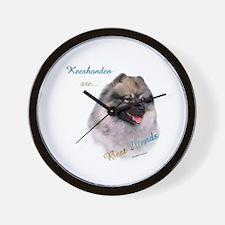 Keeshond Best Friend 1 Wall Clock