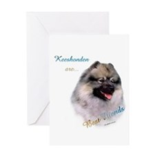 Keeshond Best Friend 1 Greeting Card