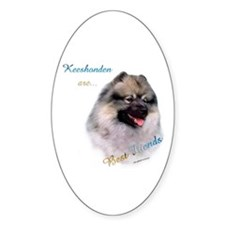 Keeshond Best Friend 1 Oval Decal