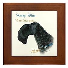 Kerry Blue Best Friend 1 Framed Tile