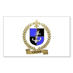 d'AMBOISE Family Crest Rectangle Decal