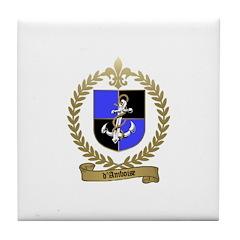d'AMBOISE Family Crest Tile Coaster