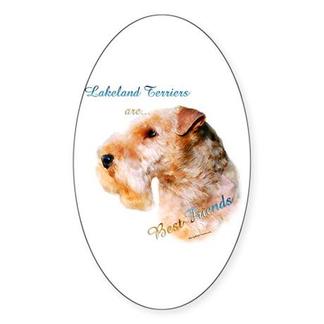 Lakeland Best Friend 1 Oval Sticker (50 pk)