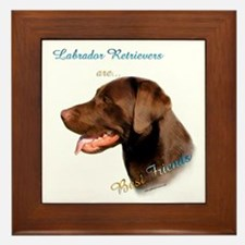 Choclate Lab Best Friend 1 Framed Tile