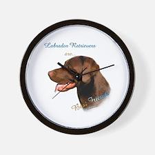 Choclate Lab Best Friend 1 Wall Clock