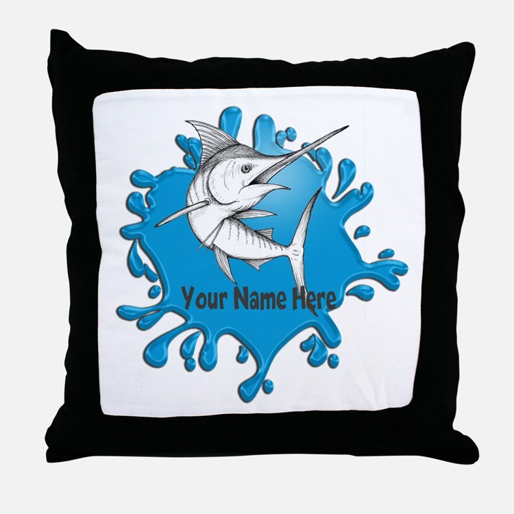 Marlin Art Throw Pillow