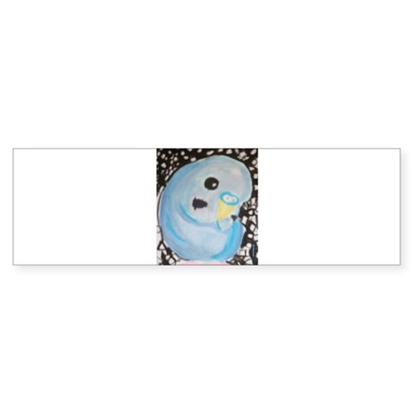 Budgie Among Stars Bumper Sticker