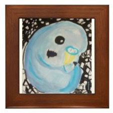 Budgie Among Stars Framed Tile