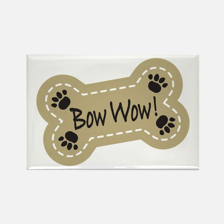 Bow Wow! Rectangle Magnet