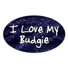 Funky Love Budgie Oval Decal