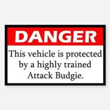Danger Attack Budgerigar Decal