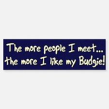 More People Budgie Bumper Bumper Bumper Sticker