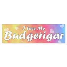 Pastel Love Budgerigar Bumper Bumper Sticker