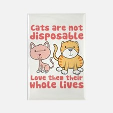 Cats Are Not Disposable Rectangle Magnet