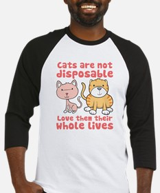 Cats Are Not Disposable Baseball Jersey