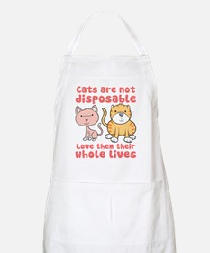 Cats Are Not Disposable BBQ Apron