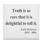Emily Dickinson 19 Tile Coaster