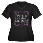 World's Greatest Daughter Women's Plus Size V-Neck