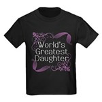 World's Greatest Daughter Kids Dark T-Shirt