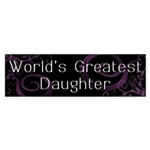 World's Greatest Daughter Bumper Sticker (50 pk)