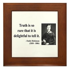 Emily Dickinson 19 Framed Tile