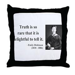 Emily Dickinson 19 Throw Pillow