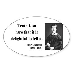 Emily Dickinson 19 Oval Decal