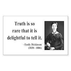 Emily Dickinson 19 Rectangle Decal