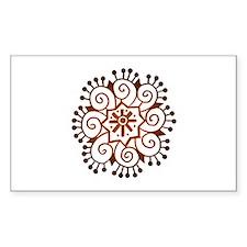 Henna Tattoo Rectangle Decal