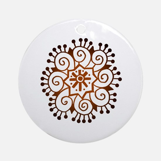 Henna Tattoo Ornament (Round)