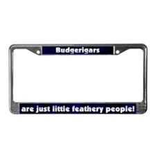 Feathery People Budgie License Plate Frame