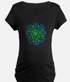 Henna Tattoo in BlueGreen T-Shirt