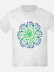Henna Tattoo in BlueGreen T-Shirt
