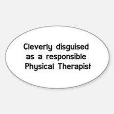 Physical Therapist Oval Sticker (10 pk)