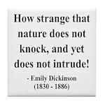 Emily Dickinson 18 Tile Coaster