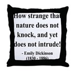 Emily Dickinson 18 Throw Pillow